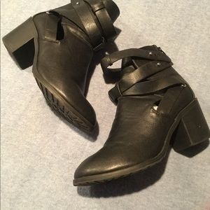 Charlotte Russe Cut Out Strappy Boot